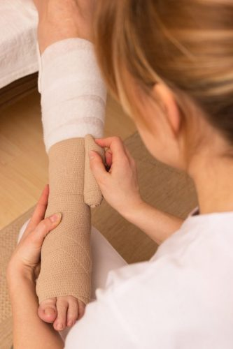 Compression Bandaging to reduce swelling