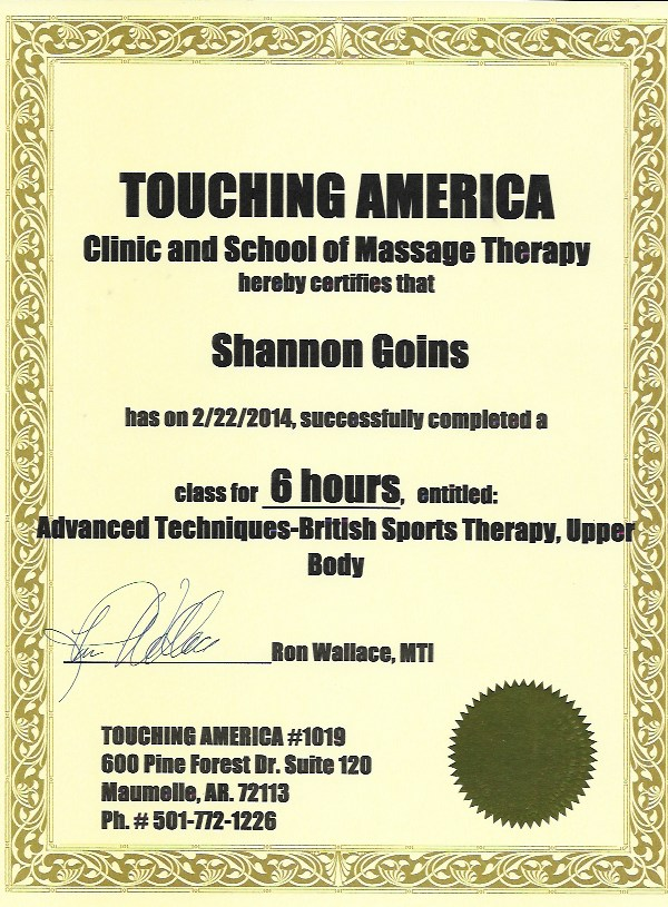 British Sports Therapy Advanced Techniques - Upper Body (6 Hours)