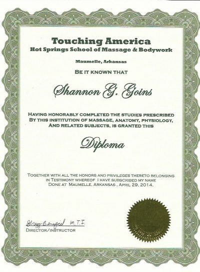 Massage School Diploma