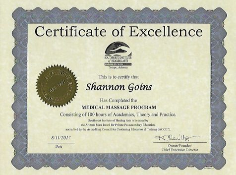 100 Hour Medical Massage Certificate