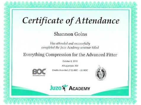 Juzo Academy Advanced Fitter Certification (9 Hours)