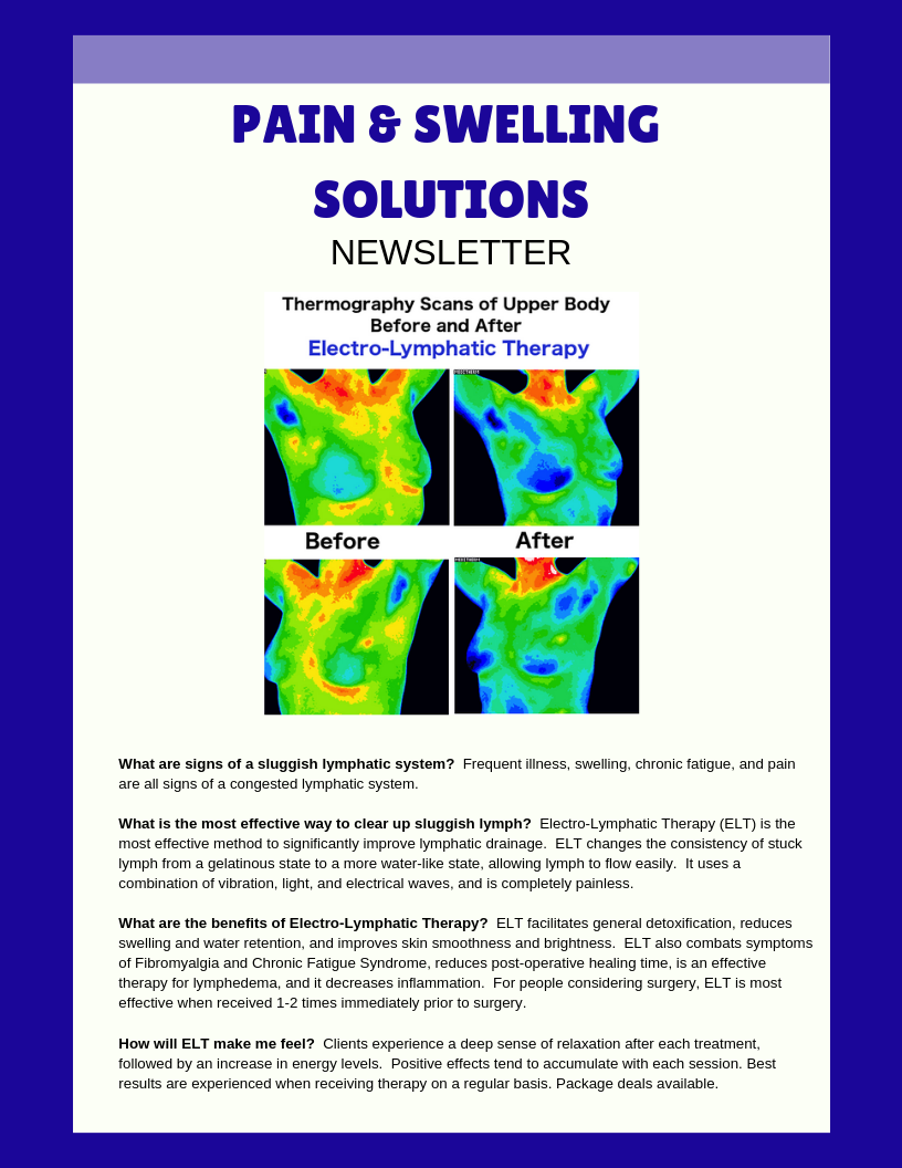 Pain & Swelling Solutions Newsletter