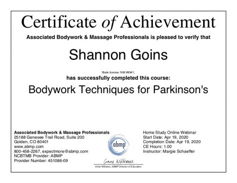 Massage Techniques for Parkinson's Disease Albuquerque