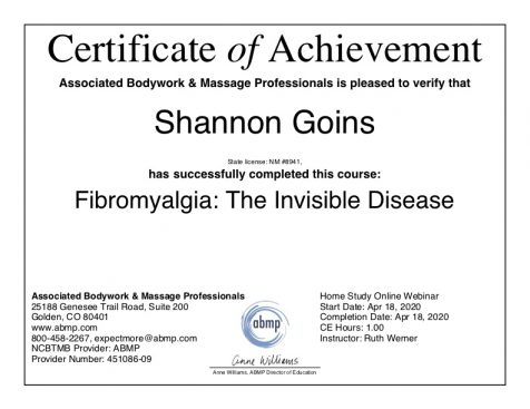 Fibromyalgia Massage Therapy Albuquerque