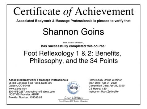 Foot Reflexology Albuquerque