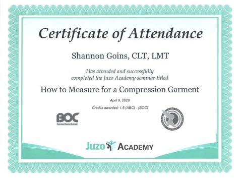 How to Measure for a Compression Garment Albuquerque