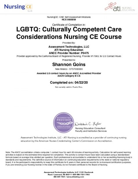 LGBTQ: Culturally Competent Care Considerations