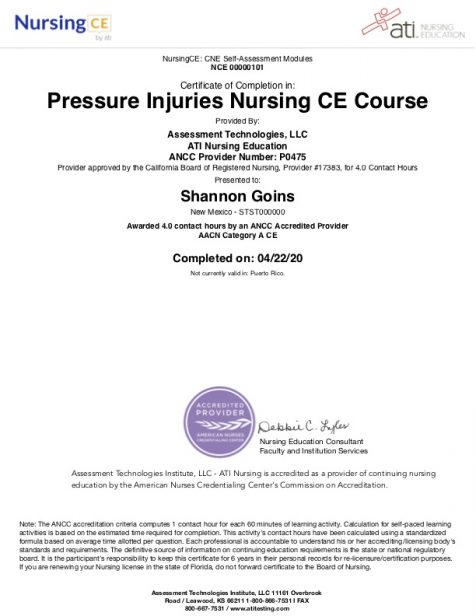 Understanding Pressure Injuries Course