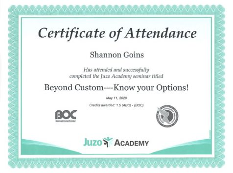 Juzo Academy Advanced Fitter Certification for Lymphedema Albuquerque
