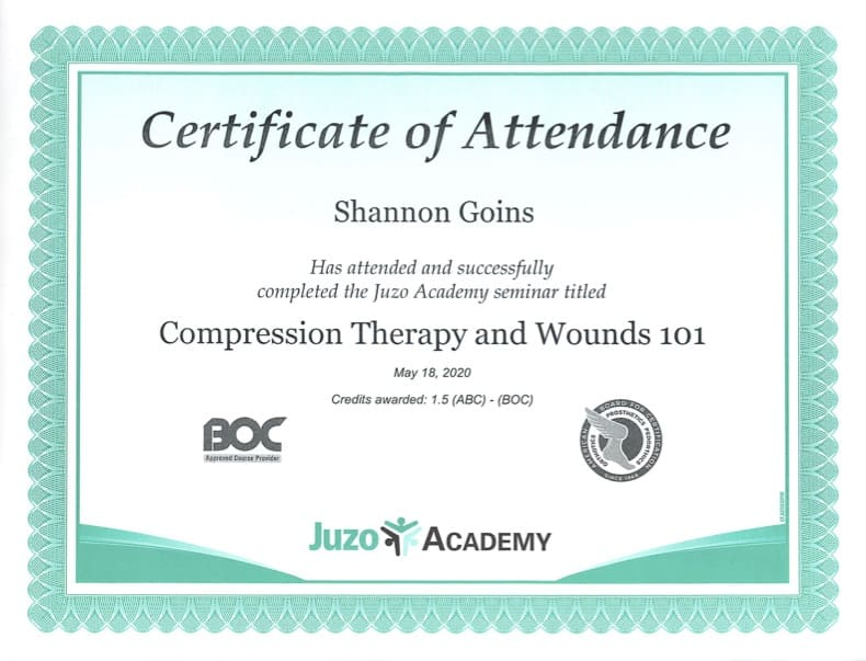 Compression Therapy and Wounds 101