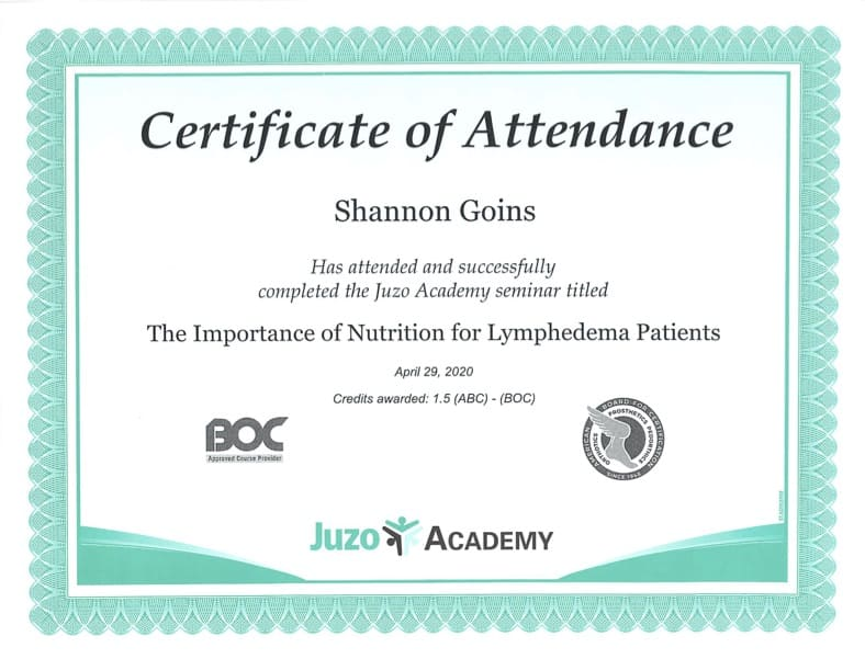 Importance of Nutrition for Lymphedema Patients