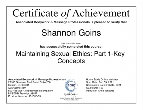 Ethics: A Guide to Ethics in Massage & Bodywork